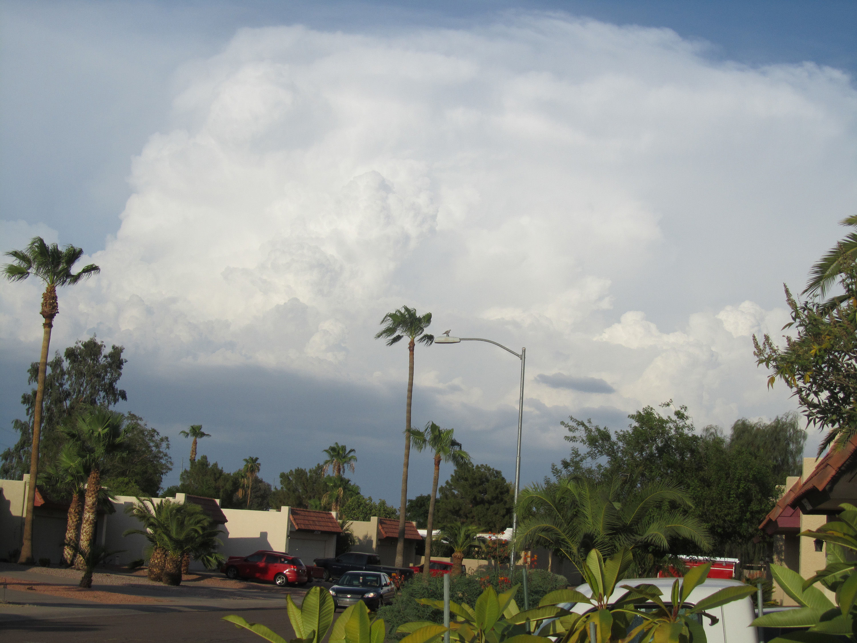 Thunderstorm over extreme North Phoenix on July 30th