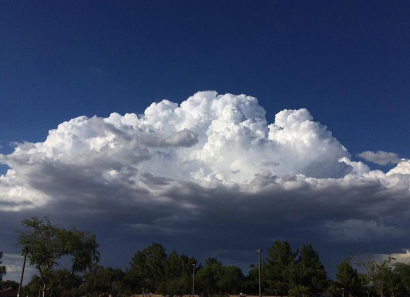 Thunderstorm over extreme North Phoenix