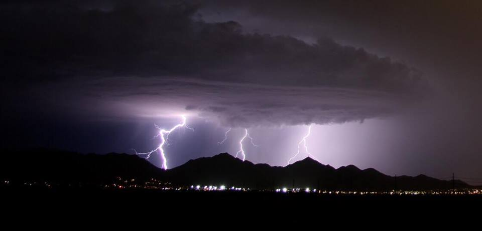 Lightning Over the McDowell Mountains on Aug 23rd