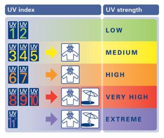 UV Index Scale
